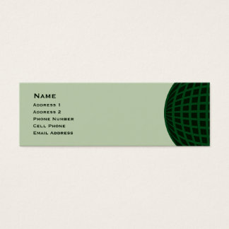 Green Global Business Mini Business Card