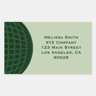 Green Global Business Rectangular Sticker