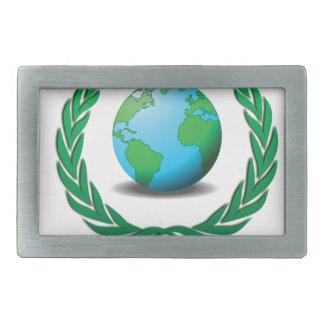 green global ruler rectangular belt buckles