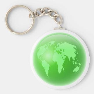 Green Globe Keychain