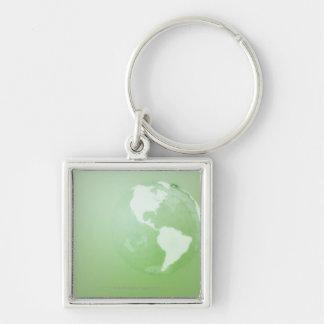 Green Globe Key Chain
