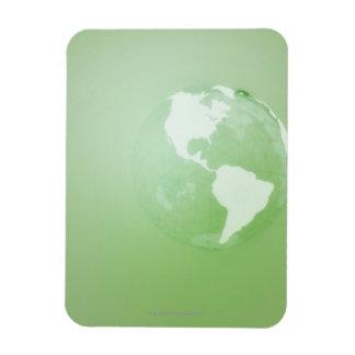 Green Globe Rectangular Photo Magnet