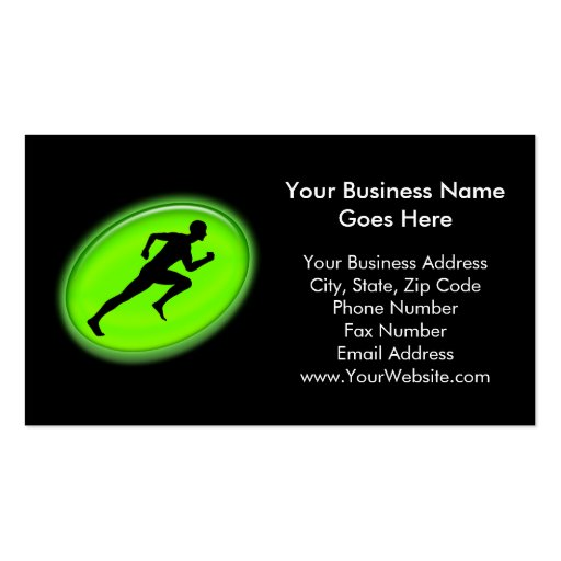 Green Glow Fitness and Personal Training Logo Business Cards