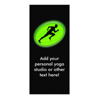 Green Glow Fitness and Personal Training Logo Rack Card