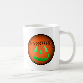 Green Glow Jack O' Lantern Baseball Coffee Mug