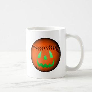 Green Glow Jack O' Lantern Baseball Coffee Mugs