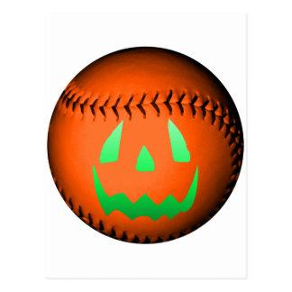 Green Glow Jack O Lantern Baseball Post Cards