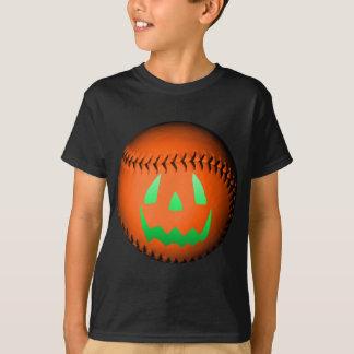 Green Glow Jack O' Lantern Baseball T-Shirt
