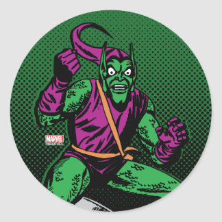 Green Goblin Retro Classic Round Sticker