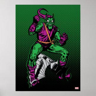 Green Goblin Retro Poster
