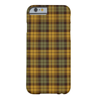 Green, Gold and Brown Rustic Plaid Barely There iPhone 6 Case