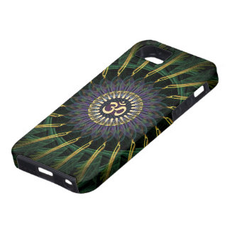 Green Gold Aum Swirl New Age iPhone 5 Case-Mate