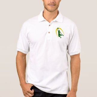 Green Gold Basketball Polo Shirt