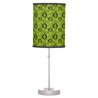 Green, Gold, Black | Mid-Century Modern Table Lamps
