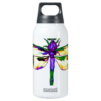 Green&  Gold Gossamer Dragonfly by Sharles Insulated Water Bottle