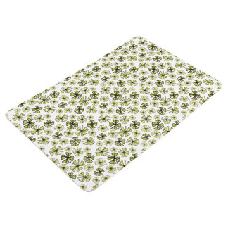 Green Gold Lucky Shamrock Clover Floor Mat