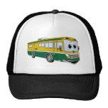Green Gold RV Bus Camper Cartoon