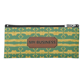 Green Gold Star Line Pencil Cases
