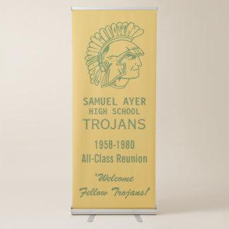 Green & Gold Trojans Class Reunion Retractable Banner