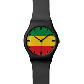 Green, Gold (Yellow) and Red Colors Flag Watch
