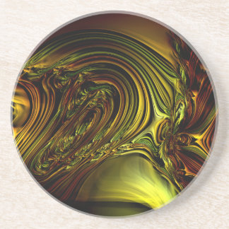 Green Golden Glassworks Multi products selected Drink Coaster