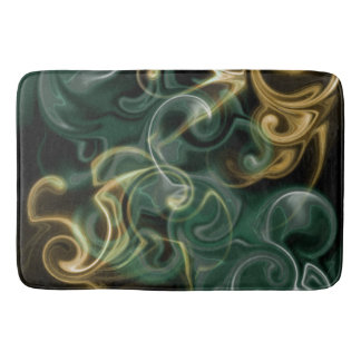 green,golden, red and black shiny festive colored bath mat