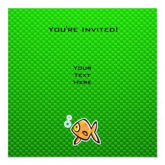 Green Goldfish Card
