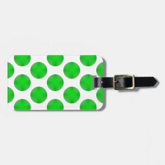 Green Golf Ball Pattern Luggage Tag