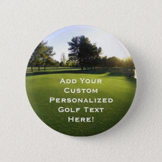 Green Golf Course at Dawn 2 Inch Round Button