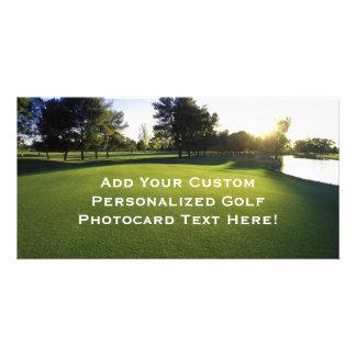Green Golf Course at Dawn Card