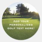 Green Golf Course at Dawn Classic Round Sticker