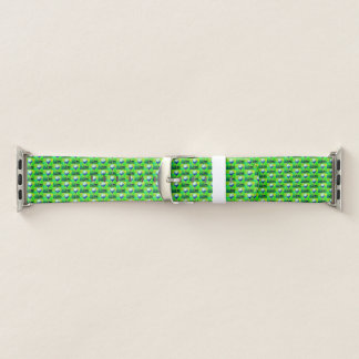 Green Golf Pattern Apple Watch Band