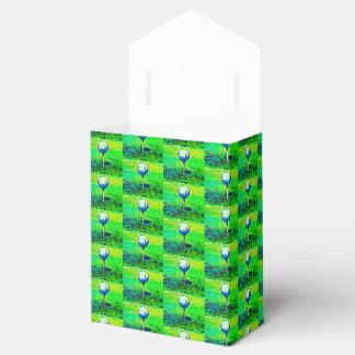 Green Golfing Tiled Favor Boxes