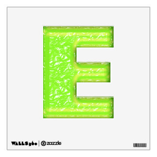 Green Goo Alphabet - Monogram E Wall Sticker