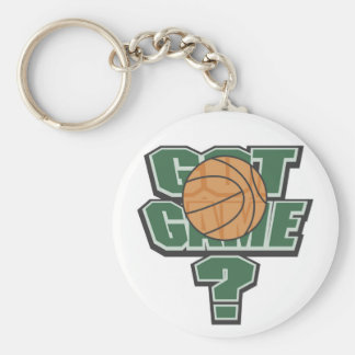 Green Got Game? T-shirts and Gifts Basic Round Button Keychain
