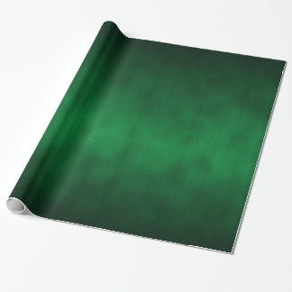 Green Gothic Ombre Abstract Art Wrapping Paper