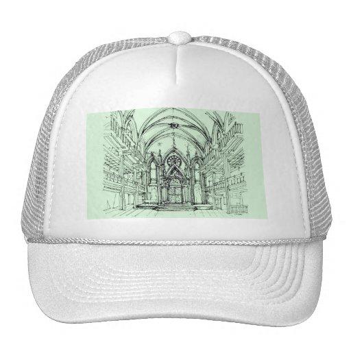 Green gothic Orensanz drawing Mesh Hat