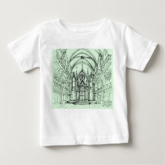 Green gothic Orensanz drawing T-shirt
