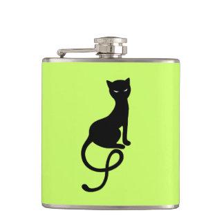 Green Gracious Evil Black Cat Flask