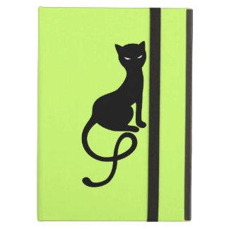 Green Gracious Evil Black Cat Folio iPad Air Cases