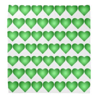Green Gradient Hearts Bandana