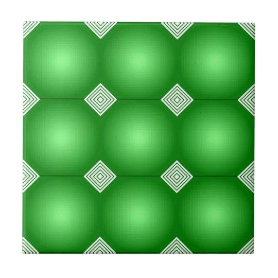Green Gradient With White Stripes Ceramic Tiles