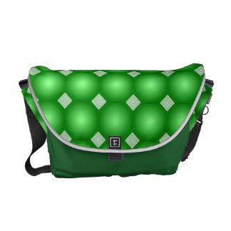 Green Gradient With White Stripes Courier Bag