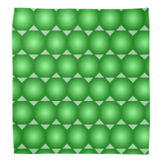 Green Gradient With White Triangles Pattern Bandana