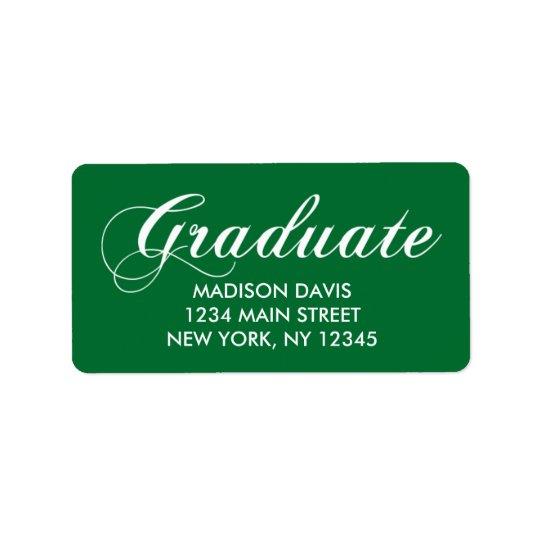 Green Graduation Address Labels