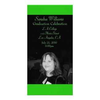 Green Graduation Photo Card