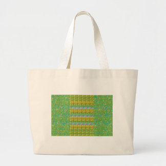 Green Graffiti Confetti n Crystal Bead Stone Patch Canvas Bags