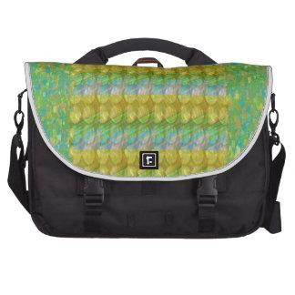 Green Graffiti Confetti n Crystal Bead Stone Patch Laptop Bag