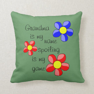 Green Grandparent / Grandchildren Quote Pillow