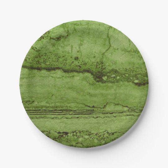 Green granite 7 inch paper plate